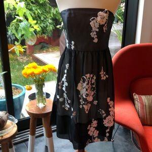 White House & Black Market Black Organza Dress
